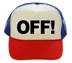 OFF! Funny Humor Funny Trucker Hat Cap red white blue