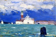 Gagnon Clarence San Giorgio Grey Day Venice Print 11 x 14 4775 Canadian Painters, Canadian Art, Seascape Paintings, Landscape Paintings, Clarence Gagnon, Dubai, Venice Painting, Oil Painting Gallery, Art Prints For Sale