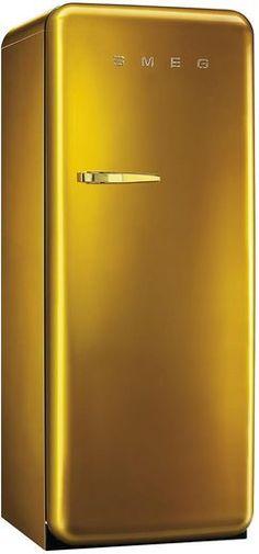 Smeg Kühlschrank in Gold