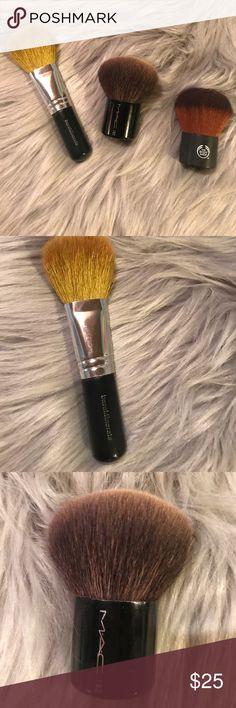 Set of 3 makeup brushes Set of 3 makeup brushes/ MAC 182 kabuki brush/THE  BODY SHOP Kabuki brush/ bareMinerals blush brush 💄💄💄 MAC Cosmetics Makeup Brushes & Tools