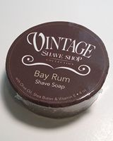 Vintage Shave Shop Bay Rum shave soap creates a rich lather with a wonderful refreshing scent.
