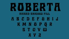 Roberta... now available in seven varieties. Harold Lohner worked with Bob Trogman to digitize his series of seven fonts. Available at Font Bros... http://www.fontbros.com/families/roberta