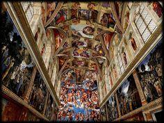 Sistene Chapel, Vatican City. Spectacular....leaves you breathless!!xx