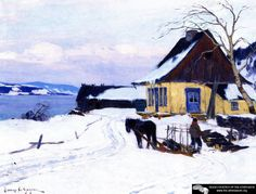 The Farm On The Hill Artwork By Clarence Gagnon Oil Painting & Art Prints On Canvas For Sale Canadian Painters, Canadian Artists, Quebec, Clarence Gagnon, Of Montreal, Art Prints For Sale, Illustrations, Sculpture, Artist Art