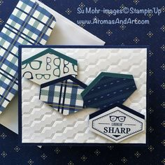 True Gentleman Hexagon Birthday Card (Aromas and Art) Birthday Cards For Boys, Masculine Birthday Cards, Masculine Cards, Name Cards, Men's Cards, Fathers Day Cards, Homemade Cards, Stampin Up Cards, True Gentleman