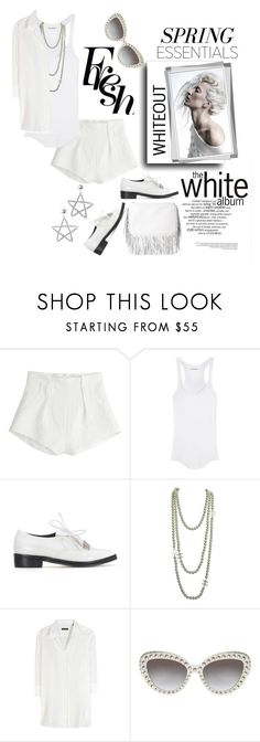 """""""Spring Whiteout"""" by harperleo ❤ liked on Polyvore featuring Mary Katrantzou, Étoile Isabel Marant, Chanel, Robert Friedman and springwhiteout"""