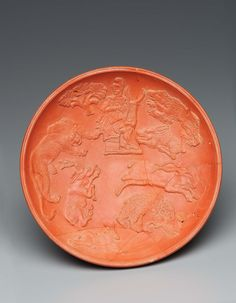 #plate #ceramics [African Red Slip Ware Bowl with Orpheus and the Animals] Roman Provincial, Late Roman or Early Christian Period, A.D. 350–430
