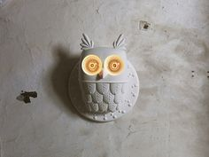My Owl Barn: White Ceramic Owl Lamp by Matteo Ugolini