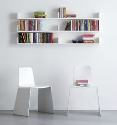 Minimalistic classroom reading area.