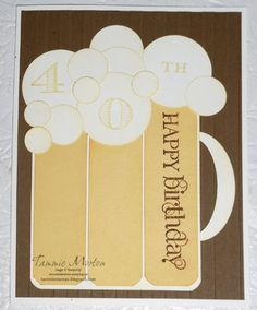 Tammie Stamps: Fun Beer Card (Apr'13)-Beer Card Tutorial