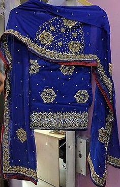 Designer Indian party wear punjabi patiala Salwar Kameez suit fabric heavy work