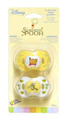 2 Disney Sincerely WINNIE THE POOH Baby Pacifiers