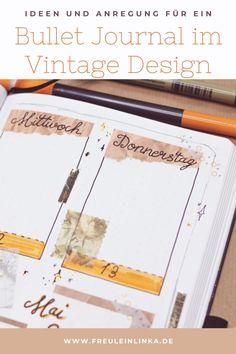 Auch als Anfänger kann man sein Bullet Journal richtig toll gestalten. Du brauchst nur Ideen und diese findest Du bei mir unter freuleinlinka.de Diy Blog, Tricks, Bullet Journal Ideas, Tutorials