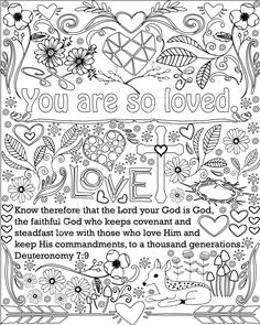 Encouraging Words And Bible Verse Coloring Pages Set Of 5 Instant Download Printable Christian PDF Kid Or Adult Sheets