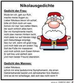 lustiges Bild 'Nikolausgedicht.jpg'- Eine von 24191 Dateien in der Kategorie 'klasse Sprüche und Witze' auf FUNPOT.