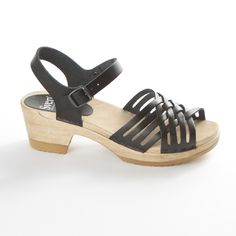 Small Weave Sandal-  Ankle Strap - Medium Heel - Non Bendable Base - Style # 1823