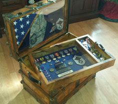Navy Retirement Shadow Box ideas or Military Shadow box Idea as a military retirement gift for him or her 540 659 6209