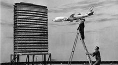 "Preparing to film the airline crash scene in ""The Medusa Touch"" - 1977"