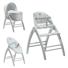 The BabyDan Angel 3 in 1 Crib, High Chair & Recliner is an innovative concept from BabyDan uniting the functions of a crib, highchair and recliner in one product, with the A-shaped stand as the centre point.