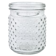 "Glass Hobnail Jar 5.75"""