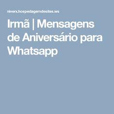 Irmã | Mensagens de Aniversário para Whatsapp