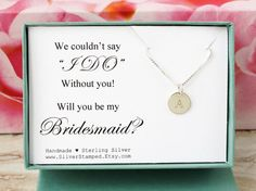 Gift for Bridesmaid invide sterling silver by SilverStamped