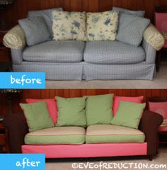 How to Reupholster a Couch Part 3: Blind Tacking - Eve of Reduction