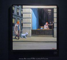 Salon ART3F Paris 2015 – Le Souffle Créatif Mass Culture, Ligne Claire, Wire Fox Terrier, Edward Hopper, Bd Comics, Book Cover Art, Art Graphique, Weird Art, Comic Book Artists