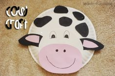 paper plate cow for wes