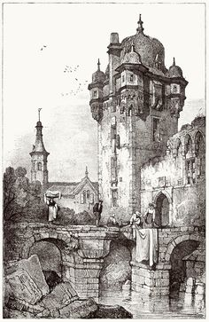 oldbookillustrations: Andernach. Samuel Prout, from Sketches by Samuel Prout, by Charles Holme, London, 1915. (Source: archive.org)