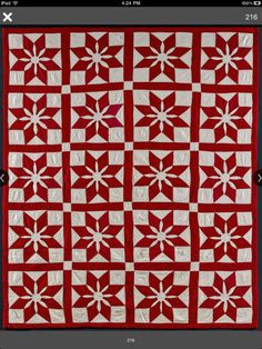 Beautiful red quilt !