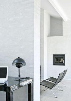 Norm Architects - white wash glaze on brick