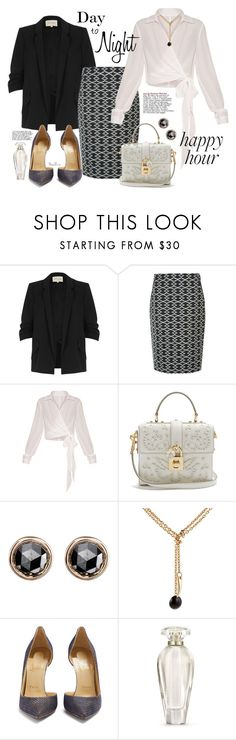 """Bottoms Up: Happy Hour"" by moondawn ❤ liked on Polyvore featuring River Island, Monsoon, Dolce&Gabbana, Finn, Maison Mayle, Christian Louboutin, Victoria's Secret, happyhour and 276"