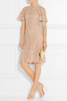 Valentino Pastel-pink cotton-blend lace Concealed hook and zip fastening at  back cotton, viscose, polyamide  lining  silk, elastane Dry clean Made in  Italy e58d27edcc