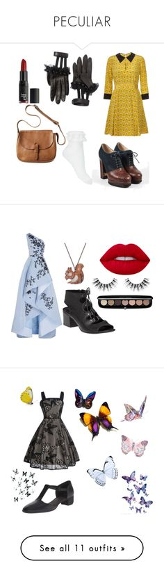 """""""PECULIAR"""" by peculiarly-lily ❤ liked on Polyvore featuring Gucci, Miss Selfridge, Chanel, Toast, Orla Kiely, e.l.f., Monique Lhuillier, Lime Crime, And Mary and 275 Central"""