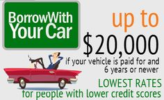 Borrow with Your Vehicle in Toronto and the GTA  What is a Vehicle Repair Loan? Prudent will loan money for car repairs and towing up to $5,000.  Cars must be 6 years or newer. And must be fully paid off, no liens or leases.