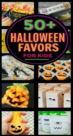 30+ Halloween treats and favors for kids that AREN'T CANDY! #halloweenpartyideas #halloweenpartyfavors #noncandyhalloweentreats #growingajeweledrose #kidshalloweenparty