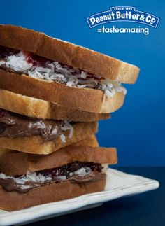 Dark Chocolate Dreams Peanut Butter Coconut Sandwich #tasteamazing
