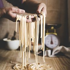 """The """"pasta alla chitarra"""" is typical of many Italian regions especially in the Centre-South and its a very old tradition. The preparation of this type of pasta consists in cutting the dough into strips passing it with a rolling pin on a wire frame (called chitarra which means guitar) and then let them fall freely in a box. Since the Middle Ages there are documents proving the use of this way to get these """"spaghetti"""" or """"macaroni"""" - as they are also called. The spaghetti are then seasoned in…"""