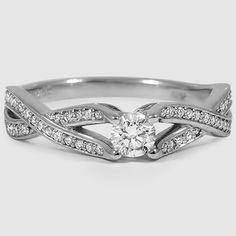 18K White Gold Amore Diamond Ring