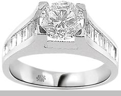 2.01 Carat Cybele Diamond 14Kt White Gold Engagement Ring-find this and the LARGEST DIAMOND selection on the 'Sun Jewelry' link on itsinthehandbag.com