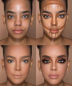 24 Perfect Highlight Contour Highlight makeup tutorial for beginners – Page 17 of 24 – Make Up for Beginners & Make Up Tutorial Best Contouring Products, Contouring And Highlighting, Contour Makeup, Skin Makeup, Best Makeup Products, Beauty Makeup, Nose Contouring, Make Up Contouring, How To Makeup