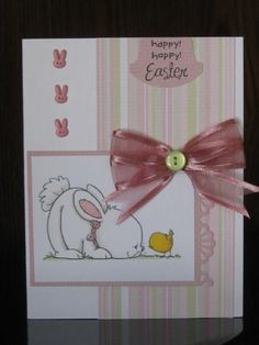 SC466, Happy Easter Bunny and Chick by jdmommy - Cards and Paper Crafts at Splitcoaststampers