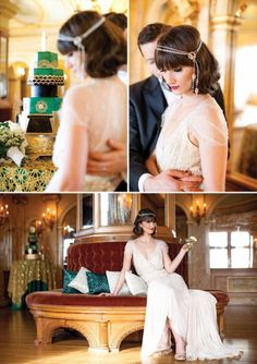 A Gatsby Affair | Art Deco / Great Gatsby Wedding Inspiration | Arizona Wedding Planners | See More at www.letsmakeitmine.com/blog