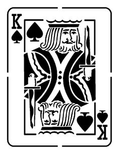 "Playing Card Jack Queen King Ace Hearts Spades Clubs Diamonds 8.5"" x 11"" Stencil #Unbranded"