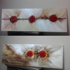 Telas Abstratas e Mandalas para decorações de ambientes. Decore com arte!: ROSAS DE SANDRA NECCHI