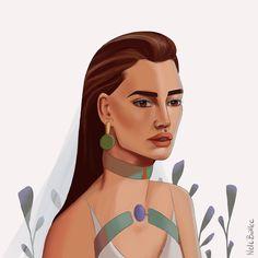 Artist @nelebalke Portrait Illustration, Illustrations, Disney Princess, Disney Characters, Artist, Color, Illustration, Artists, Colour