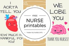 Free Printable Nurse Appreciation Thank You Cards - Quan Jewelry Nurses Week Quotes, Nurses Week Gifts, Happy Nurses Week, Nurse Quotes, Nurses Week Ideas, Nursing Gifts, Thank You Nurse Gifts, Thank You Cards, Nursing Printables