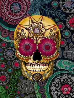 sugar-skull-paisley-garden-copyrighted-christopher-beikmann