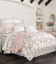 Piper & Wright Rosalie Crochet-Trimmed Floral & Striped Comforter Set